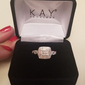 Nib Kay Jeweler's Halo Engagement Ring Size 7